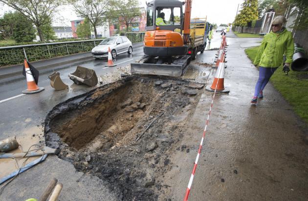 Burst Water Main Clare-Limerick 2