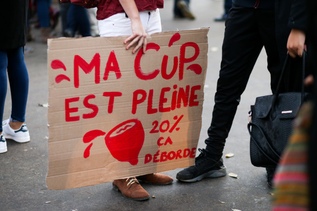 Rally Calling For Reduced Taxes On Women's Sanitary Products - Paris