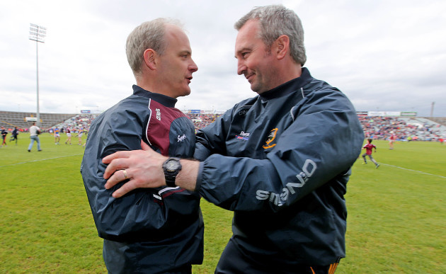 Michael Donoghue and manager Michael Ryan