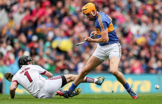 Colm Callanan saves a Seamus Callanan attempt