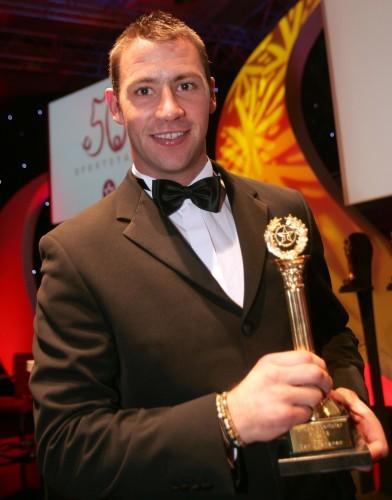 Dan Shanahan with his award