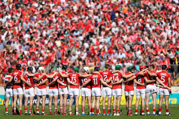 Cork stand for national anthem