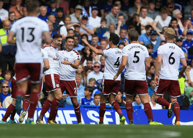 Nine-man Chelsea shocked by Sam Vokes double for Burnley