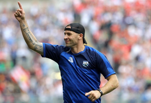 Dan Shanahan celebrates a Waterford goal