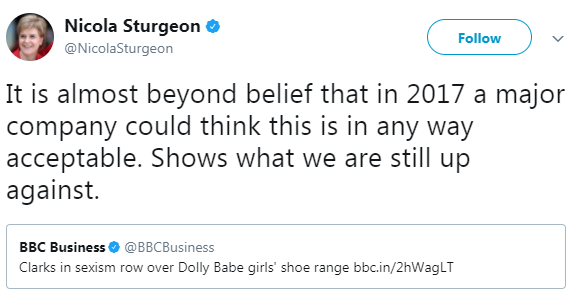 Scotland's first minister Nicola Sturgeon even shared her disbelief.