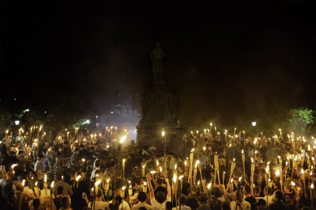 VA: Alt Right, Neo Nazis Hold Torch Rally at UVA
