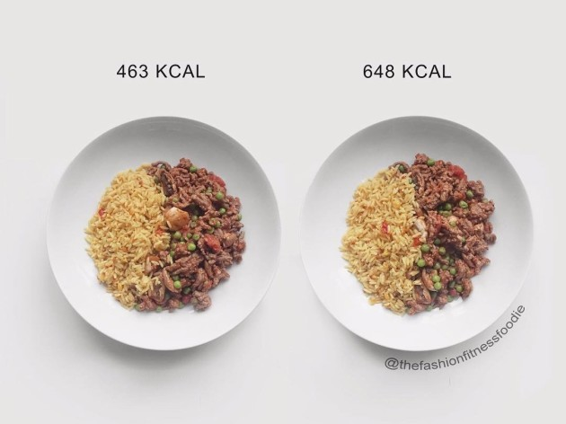 both-of-these-bowls-contain-the-same-amount-of-food-but-the-bowl-on-left-was-made-with-light-cooking-oil-spray-and-contains-beef-thats-5-fat-whereas-the-bowl-on-the-right-was-made-with-olive-oil-and-beef-thats-12-fat