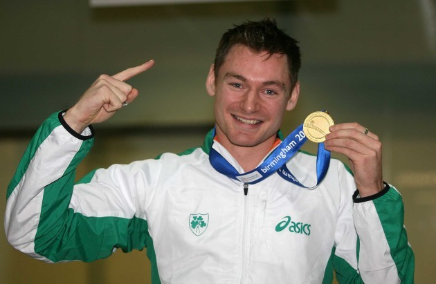 David Gillick with European Indoor 400m goal medal