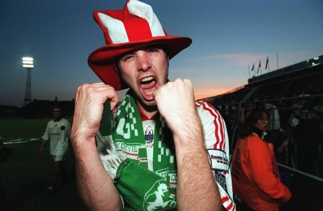 Derek Coughlan after winning the FAI Cup in 1998 23/2/2010