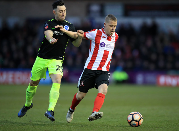 Lincoln City v Brighton and Hove Albion - Emirates FA Cup - Fourth Round - Sincil Bank