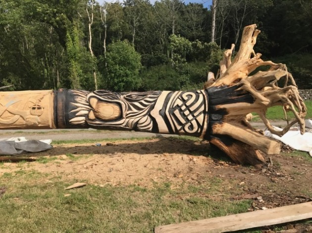 The waterford man who s carving a metre long wooden