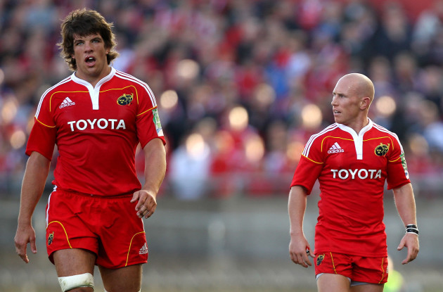 Donncha O'Callaghan and Peter Stringer