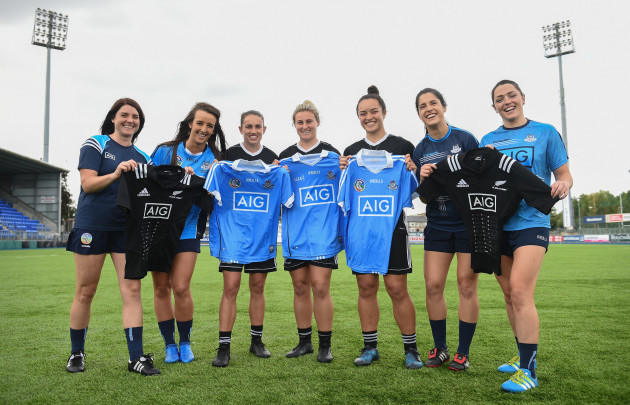 AIG event with the New Zealand Black Ferns, Dublin Ladies Footballers and Dublin Camogie