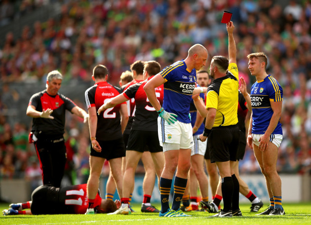 Kieran Donaghy red carded by referee David Gough