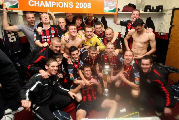 Bohs players celebrate