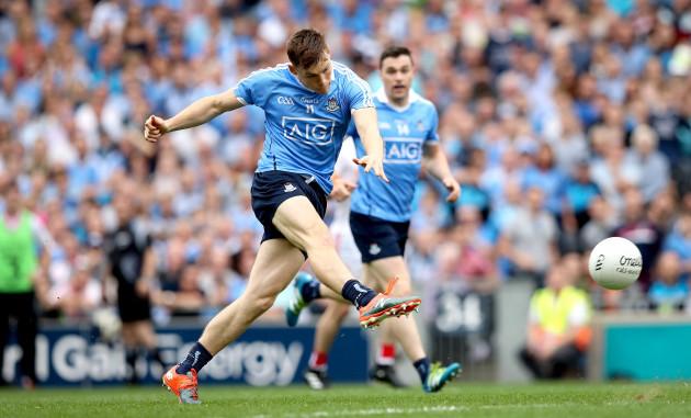 Con O'Callaghan scores the first goal