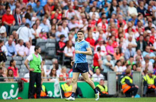 Diarmuid Connolly enters the field