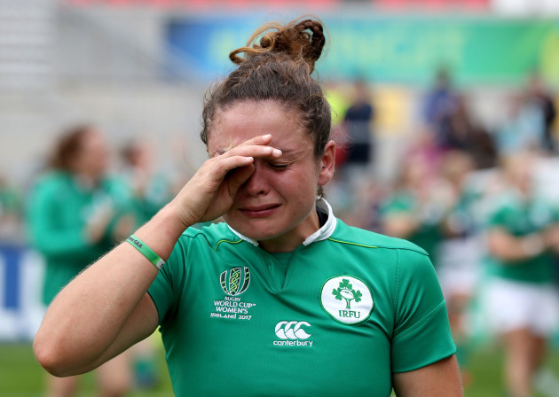 Larissa Muldoon dejected after the game