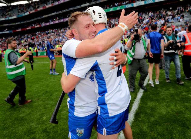 Noel Connors and Brian O'Halloran celebrate