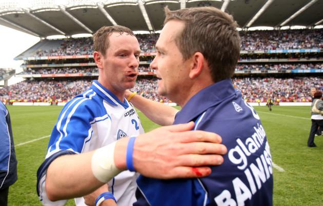 Eoin Murphy hugs Davy Fitzgerald