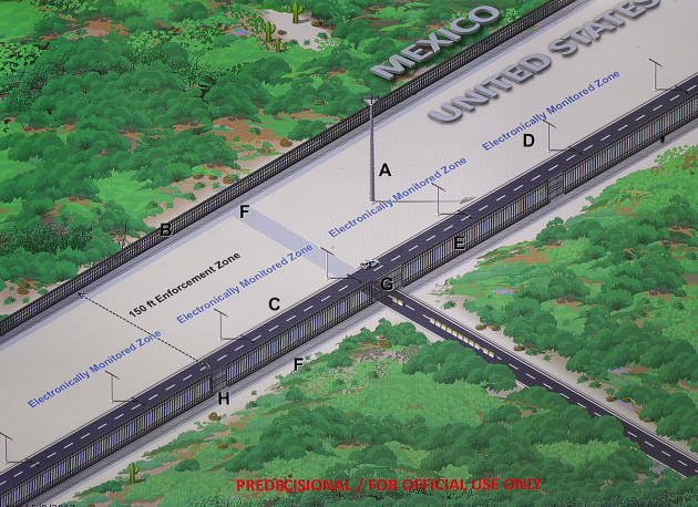 These Are The Designs For Donald Trumps Mexican Border Wall - Us mexico border map and proposed wall