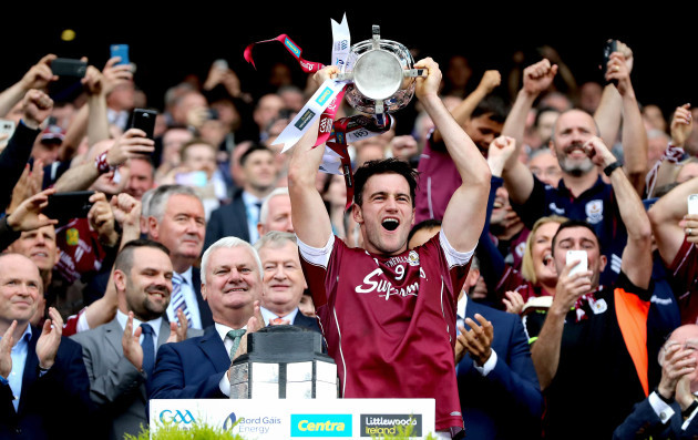 David Burke lifts The Liam McCarthy Cup