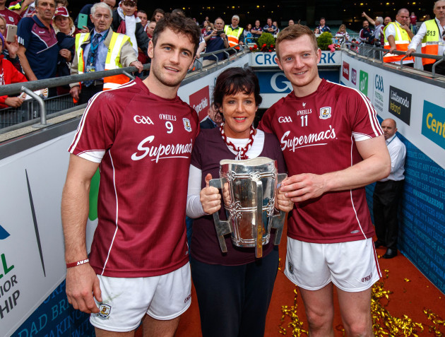 David Burke and Joe Canning with Margaret Keady
