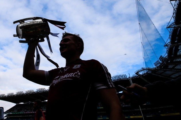 Joe Canning celebrates after the game