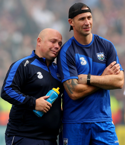 Derek McGrath and Dan Shanahan dejected after the game