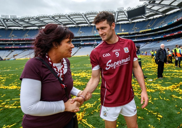 Margaret Keady congratulates David Burke
