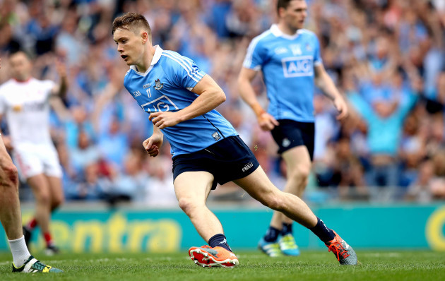 Con O'Callaghan celebrates scoring