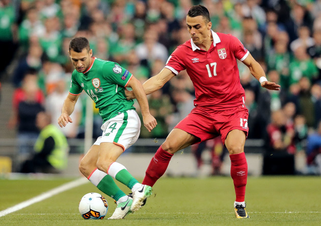 Wes Hoolahan with Filip Kostic