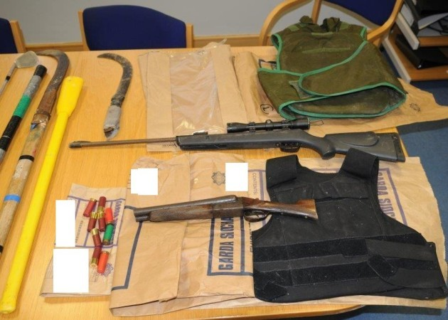 Three arrested and firearms and weapons seized in Cork raid