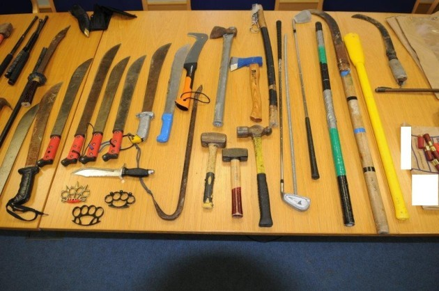 Guns And Other Weapons Seized In Cork