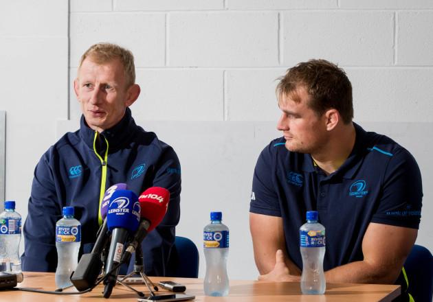 Leo Cullen with Rhys Ruddock
