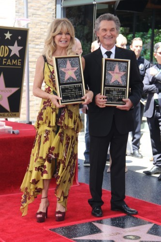 Goldie Hawn And Kurt Russell Honored With Double Star Ceremony On The Hollywood Walk Of Fame