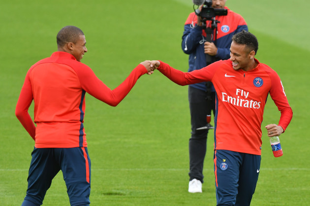 PSG Training With Kylian Mbappe - Camp Des Loges