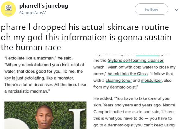 pharrell skincare