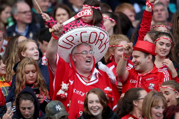 Cork fans celebrate winning