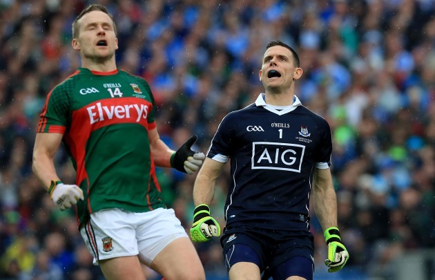Stephen Cluxton with Andy Moran