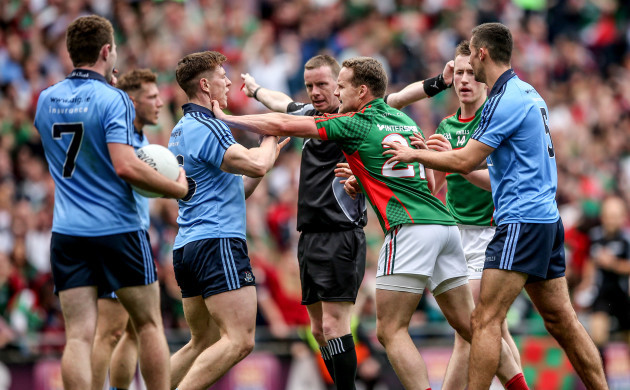 Joe McQuillan awards Mayo a penalty
