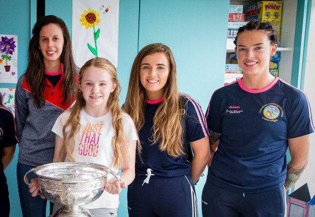 Orla Cotter, Orla Cronin and Ashling Thompson with Katelyn Clarke