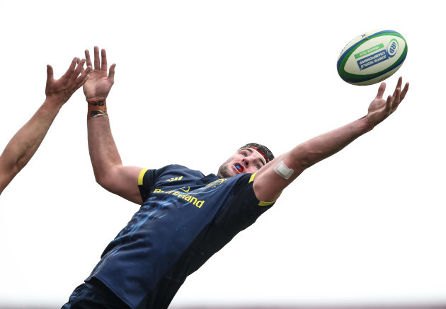 Sean O'Connor catches a line out ball