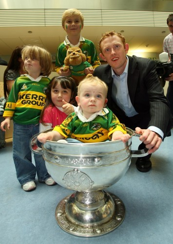 Colm Cooper with Thomas O'Carroll