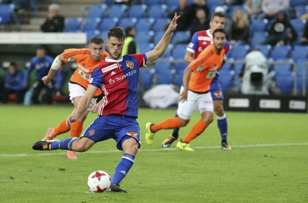 Fussball Super League - FC Basel - FC Lausanne-Sport