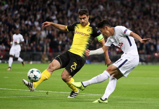 Tottenham Hotspur v Borussia Dortmund - UEFA Champions League - Group H - Wembley