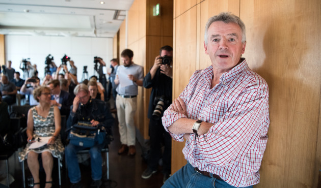 Head of Ryanair Michael O'Leary speaks on Air Berlin