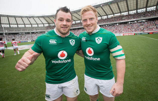 Cian Healy and James Tracy