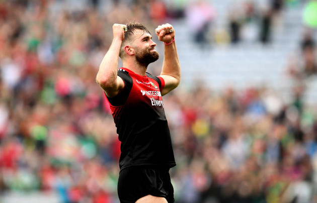 Aidan O'Shea celebrates at the final whistle