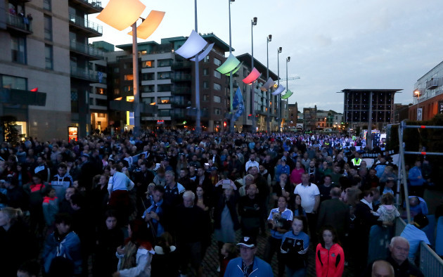Dublin fans at the reception